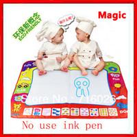 Free shipping! 2pcs/lot In Stock 80X60cm Big size Aquadoodle Magic Water Doodle Mat/Water Drawing Mat/Water Doodle Mat
