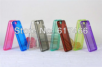 Wholesale 10pcs/lot newest Multicolor Ultra Thin Transparent Clear Crystal Soft Rubber silicon tpu Case For iPhone 5 5g