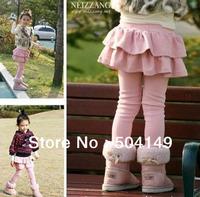 Girl Falbala Legging /pants/ tights/culotte childrens baby girl leggings pantskirt 5pcs/lot