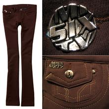 Desinger   built-in plus velvet thickening elastic boot cut bell-bottom trousers(China (Mainland))