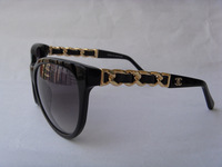New arrival 5215q sun glasses sheepskin bag chains plate sunglasses multicolor vintage all-match