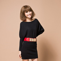 2013 women's pullovers geometry loose sweater