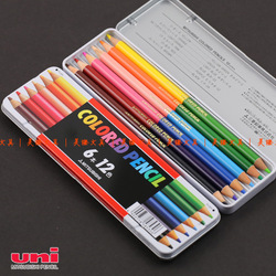 Uni MITSUBISHI double slider colored pencil 512 12 6 book 12(China (Mainland))