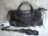 2014 new black motorcycle bag city Medium 38cm women's handbag iron gray dark gray women messenger bag bolsas genuine leather