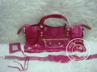 Spiral daikin cowhide gold metal hardware motorcycle bag 43cm rose red genuine leather women messenger bag bolsas designer brand