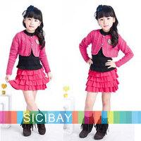 Girls  Sweaters Free Shipping Little Girls Spring Small Suit Short Knitwear,Kids Cute Wear K0325