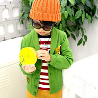 2014 autumn and winter children's clothing five-pointed star child fleece large sweatshirt outerwear cardigan 18a-6610