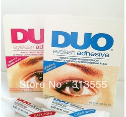 Free shipping! DUO WATER PROOF FALSE EYELASH ADHESIVE EYELASH GLUE Dark/White(China (Mainland))
