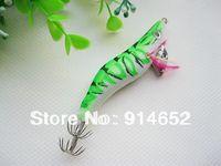 Free Shipping 50pcs/lot Super Cheap No. 4.0 color option luminous wood shrimp lure squid hook neon shrimp fishing lure