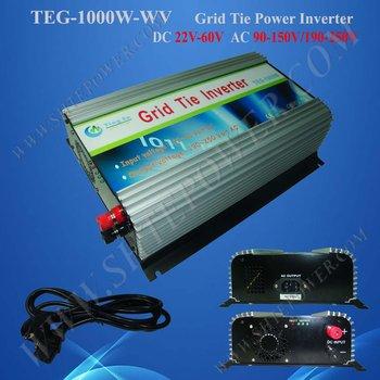 CE apprved ,1000W 22-60v dc Grid Tie Solar Power Inverter, MPPT function,stackable use