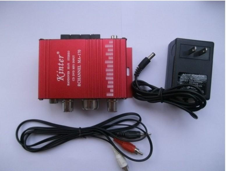 MA170 2 channel Hi-Fi Stereo Amplifier F Car Boat Radio+12v 2a adapter(China (Mainland))