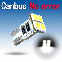 4pcs T10 4 SMD Pure White CANBUS OBC Error Free Interior Car W5W 4 LED Light Bulb V4 12V Interior Lights Instrument 194/501