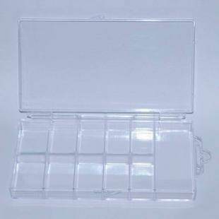 Sclerite aeroid nail art supplies tools storage box jewelry box 100 transparent sclerite box(China (Mainland))