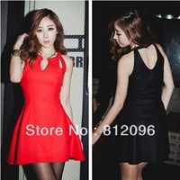 2013 new Promotions hot trendy cozy fashion women clothes casual sexy dress Unique design around the V-neck waist sleeveless