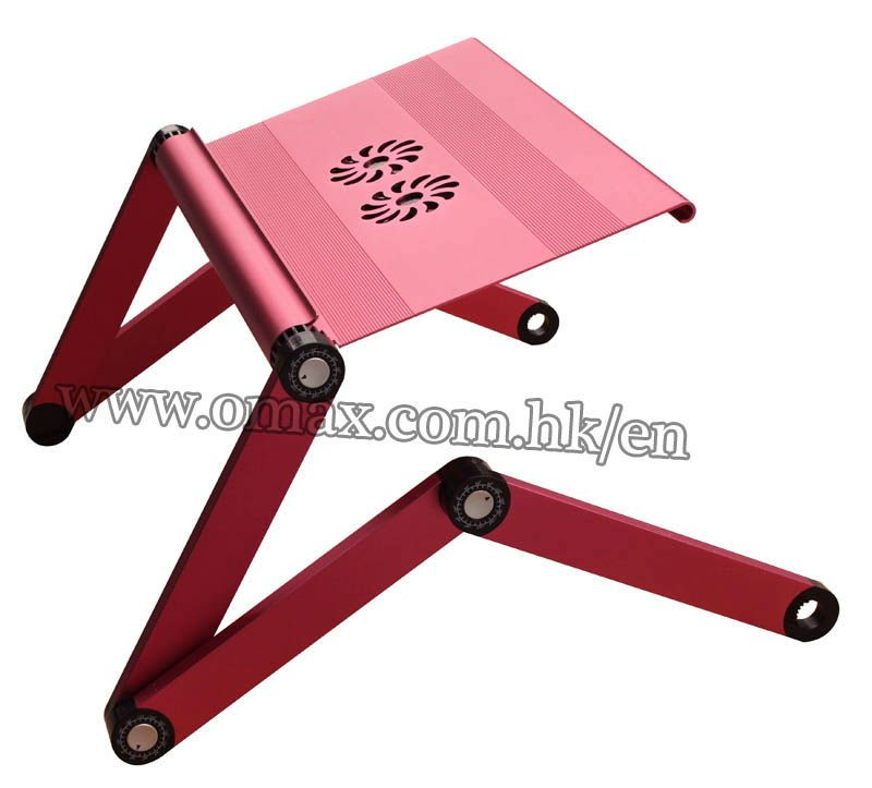 Free shipping-Omax 2013 folding notebook stand for ipad with movable mouse pad(China (Mainland))