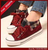 Free shipping Hot-selling guoan women's shoes high-top shoes canvas shoes for women casual shoes WS0002