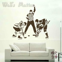 Removable Vinyl Paper art Decal decor Multiple color choices Wall stickers ice hockey sports ball b0242