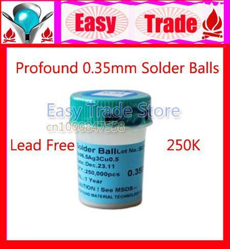Freeshipping 250Kpcs/Bottle Profound 0.35mm BGA Solder Ball Lead Free(China (Mainland))