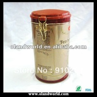 Professional Round Metal Coffee Tin Box/can with Hinge, Tin Can