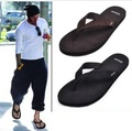 Free shipping new arrive fashion men's slippers casual cowhide flip flops bakham male slippers beach