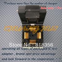 100% NEW IC51-0804-808 Socket QFP80/TQFP80 IC Test Burn-in Socket Adapter 0.5mm Pitch