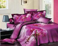 hot selling pink floral pattern pink bedlinens cotton full/queen bedding sets 4pcs for comforter quilt/duvet cover sets