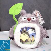 Totoro totoro toys - gray totoro lotus leaf photo frame  general stuffed dolls plush toy cartoon free shipping