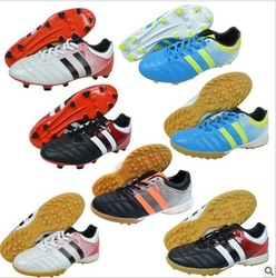 New arrival European cup football shoes gel nails flat knife Soccer Shoes(China (Mainland))