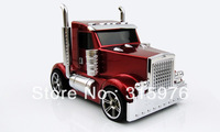 New Mini Rechargeable Truck Car Shape USB FM Radio TF SD Card Music Player Speaker car mini speaker Free shipping