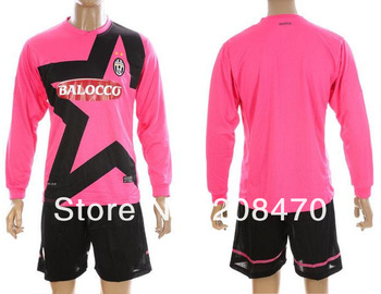 New Arrival 2012 2013 Juventus away pink long sleeve soccer jerseys Desinger football clothing Brand Sports kits Free Shipping