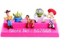 Retail 1 SET Free shipping High Quality PVC Toy Story 3 Woody Jessie Buzz Figures Set New 6CM