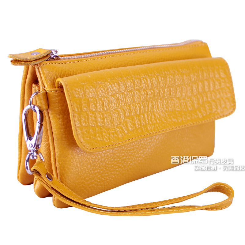 2013 women's handbag female day clutch genuine leather clutch coin purse women's cosmetic bag messenger bag(China (Mainland))