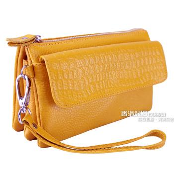 2015 women's handbag female day clutch genuine leather clutch coin purse women's fashion bag messenger bag