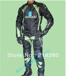 KAWASAKI Latest summer clothing suits racing suits Textile Motorcyle Racing jacket and Pants all Size(China (Mainland))