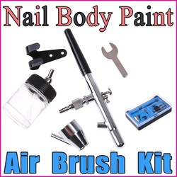 Dual-action Air Brush Kit Set Nail Body Paint Spray Gun Make up Tool Craft Nail Art Cake Decorating,Free Shipping(China (Mainland))