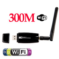 300Mbps 300M Wireless USB WiFi Wi Fi Wi-Fi Adapter With External Antenna Wholesale Free Drop Shipping