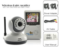 Free Shipping 2.4G Wireless Baby Monitor With 2.4 inch TFT-LCD Receiver/ 2-Way Audio H123