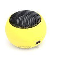 HOT Wholesale Mini Hamburger Yellow MINI PORTABLE Travel SPEAKER FOR IPOD IPHONE MP3 PC IPAD 80459