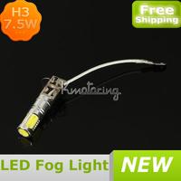 Wholesale H3 Xenon White LED Headlight Light 7.5W Fog Driving Lights Bulb Lamp 6500K 500LM,FREE SHIPPING led fog light kit