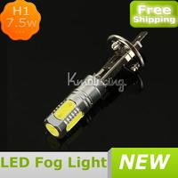 High Power Xenon White LED Bulb 7.5W Fog Driving Lights Bulb Lamp H1 6500K,Wholesale Car LED Fog Light,LED Fog LampFREE SHIPPING