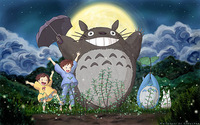 "07 my neighbor totoro cartoon movie 38""x24"" Poster"