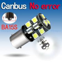 4pcs 1156 BA15S 19 SMD Pure White CANBUS OBC Error Free Signal Car light 19 p21w LED Light Bulb V4 12V External Lights