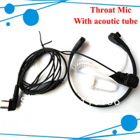 Throat Vitration mic Earphone/Earpiece for two way radio Quansheng Puxing TYT wouxun FDC HYT Baofeng Beifeng Most Chinese radio