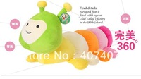 Free shipping The caterpillar plush toys cushion  pillow creative dolls cute back cushion children's birthday present  83CM