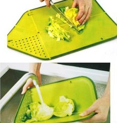 Direct selling high quality Plastic multifunctional foldable draining chopping board Folding colander Kitchenware free shipping