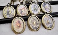 Medium egg series pocket watch necklace vintage accessories necklace pocket watch