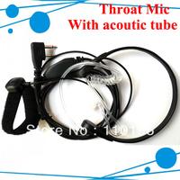 Throat Vitration mic Earphone for icom ham radio ic-v80 walkie talkie ic-v82 2 way radio ic-v85 icom radio ic-v8 Freeshipping