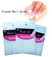 Free shipping+French Manicure Nail Art Tips Form Fringe 9 Styles Guides Sticker DIY Stencil 100pcs/lot