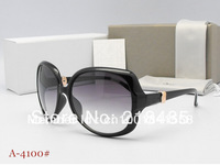 2013 spring season Hot sell sunglasses women black brand design glasses with boxes