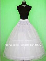 White Net Tulle Full Length 2-Hoop 2-Layer Petticoat Crinoline Underskirt Slip
